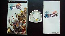 DISSIDIA FINAL FANTASY : JEU Sony PSP (Square Enix COMPLET envoi suivi)
