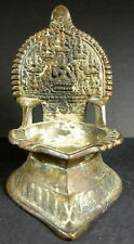 ORIGINAL BRONZE OIL LAMP REPRESENTING GODDESS GAJA LAKSHMI INDIA 19th CENTURY