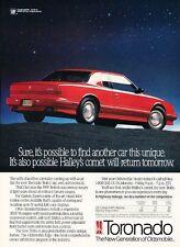 1991 Oldsmobile Toronado Trofeo -  Original Advertisement Print Art Car Ad J554
