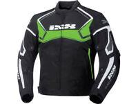iXS Textiljacke Activo | Schwarz-Grün-Weiß | Motorradjacke aus Polyester