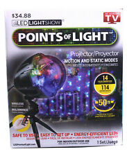 LED Lightshow - Christmas Points Of Light Motion & Static Mode With Remote