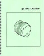 New listing Konica Uc Fisheye Hexanon Ar 15mm F2.8 Lens Service & Repair Manual Reprint
