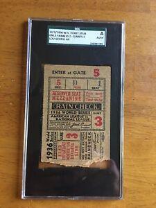 1936 World Series Game 3 Ticket Stub SGC Lou Gehrig HR Yankees
