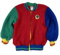 Vintage Kitestrings Kids Unisex Colorblock Zip Up Jacket Size 7 Football