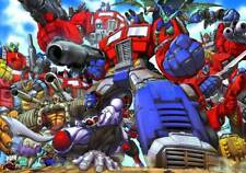 TRANSFORMERS POSTER: OPTIMUS PRIME all versions 27 x 39.5 Don Figueroa Dreamwave
