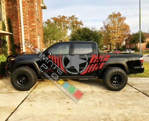 Set Side Stripe Decal Sticker Kit for Toyota Tacoma 4x4 Lifted wrap 2009 - 2019