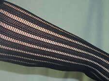 MARK Stretch Black TEXTURED PANTHOSE Stockings/Tights - SIZE S / Petite - EUC
