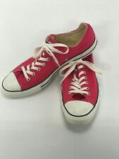 Pink Converse Allstars Chuck Taylor Low Canvas Mens Size 13 Women's Size 15
