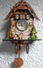 Reloj péndulo Madera Selva negra black Forest,24 cm,Reloj cucú Diseño