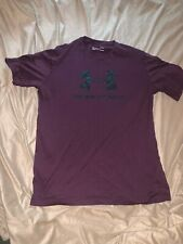 NWT UNDER ARMOUR Troy Buchanan High School Trojans Purple Polo Shirt Mens Size M