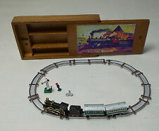 Dollhouse Miniature Heidi Ott Painted Train Set in box Nursery or Gentleman Toy
