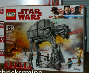 New Lego Star Wars AT-AT #75189 First Order Heavy Assault Walker poe rey figure