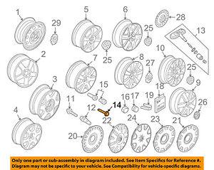 VW VOLKSWAGEN OEM 98-10 Beetle Wheels-Wheel Bolt WHT002437
