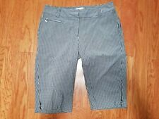 SPORT HALEY BLACK AND WHITE GINGHAM GOLF SHORTS WITH ZIP POCKETS SIZE 4