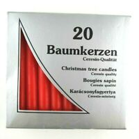 19 Vintage German Unscented Red Christmas Candles - Christmas Tree / Carousel