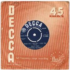 BILLY FURY When will you say I love you / All I wanna do is cry Decca F 11655