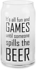 Fun and Games - 16oz. Beer Can Glass Tea Light Holder