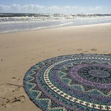 "72"" Indian Star Mandala Round Roundie Beach Throw Tapestry Gypsy Hippie Yoga Mat"