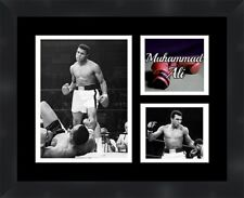 Mohammad Ali vs Sonny Liston black framed collage picture 11X14 Frames By Mail