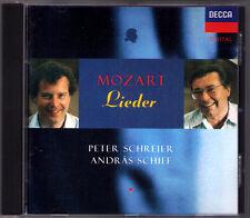 Peter SCHREIER & Andras SCHIFF: MOZART Lieder Masonic Cantata Der Frühling CD