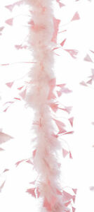 Pale Pink Feather Boa Christmas Garland Xmas Tree Decorations 184cm