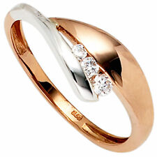 Echte Edelstein-Ringe aus Rotgold mit Zirkon