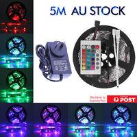 Waterproof 300 LEDS RGB SMD 5M 3528 LED Strip Light 12V +IR Controller + DRIVER