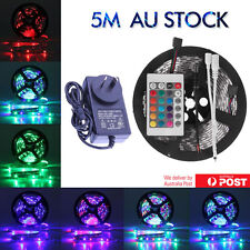 Waterproof 300 LEDS RGB SMD 5M 3528 LED Strip Light 12V + IR Controller + Driver