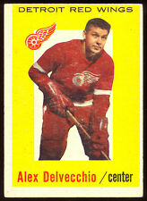 1959 60 TOPPS HOCKEY #8 ALEX DELVECCHIO EX-NM DETROIT RED WINGS HOF CARD
