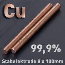 Cobre cu 99,9% alrededor del ánodo 100 x ⌀ 8 mm galvanik electrolizar alrededor de barra electrodo