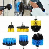 3Pcs/Set Car Electric Drill Brush Hard Bristle Detailing Spin Tub Home Clean Set