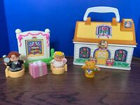 Fisher Price Little People On The Go Cottage Wedding Take Along Playset,Complete