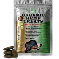 Organic Hemp Treats for Dogs Anxiety Relief, Grass-Fed, Beef, 60 Soft Chews