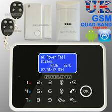 LCD WIRELESS SECURITY GSM MOBILE AUTODIAL HOME HOUSE BURGLAR INTRUDER ALARM