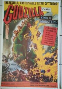 """Godzilla King Of The Monsters comercial USA one sheet poster 27""""x41"""" Rolled"""