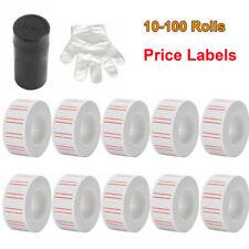 600/Roll Price Gun Tag Sticker Label Refill Mx 5500 Paper White Red Line Labels