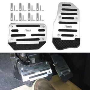 Universal Chrome Non-Slip Automatic Car Brake Gas Pedals Pad Cover Accessories