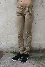 Gas Albert Chino S Trousers Beige Slim/Skinny leg Stretch Pants  W28 L32 UK10