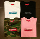 SUPREME BOX LOGO Classic pure color cotton T-shirt pocket shirt S-XXL-NEW
