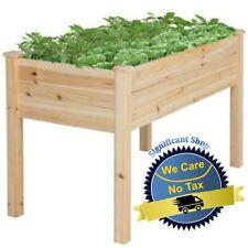 Garden Raised Bed Planter Cedar Flower Elevated Outdoor Gardening Plant Herb Box