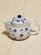 Blue Spring Flower Teapot Tea Pot with Removeable Strainer filter