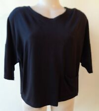 Brown Sugar size 14 pocket black top NWT New short sleeve free postage