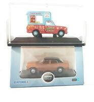 OXFORD DIECAST 76COR3001 & CH009 OO GAUGE - CORTINA Mk3 & CANDY FLOSS VAN