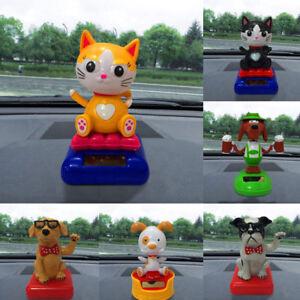 1PC Solar Dancing Toy Dog Cat Swinging Bobble Dancer Toy Car Decor Gift Hot