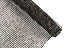 1 Meter x 90cm Black Windowpane Lattice Stiffened Sinamay Fabric for Millinery