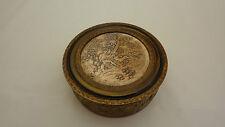 Antique Powder Jewelry Vanity Round Box