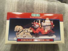 BNIB 1996 Lemax Village Collection Porcelain 'Off to the Fire'