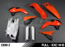 Plastic VOLL kit KTM EXC EXCF 125 250 300 350 450 500 '14 '15 2014 2015 SCRUB
