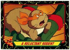 Reluctant Rodent#150 Teenage Mutant Ninja Turtles S.2 Topps 1989 TradeCard-C1424