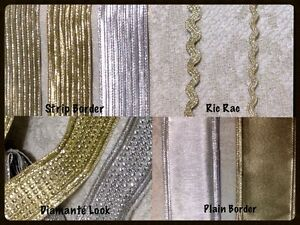 Stylish Gold/ Silver Christmas Craft Border Trimmings/Ribbon Border Lace Sewing